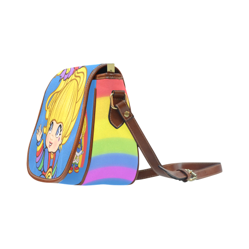 Rainbows Make Everything Better Saddle Bag/Small (Model 1649) Full Customization