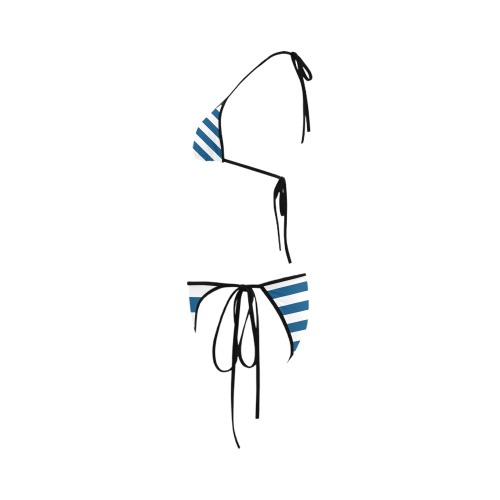 Stripe Custom Bikini Swimsuit
