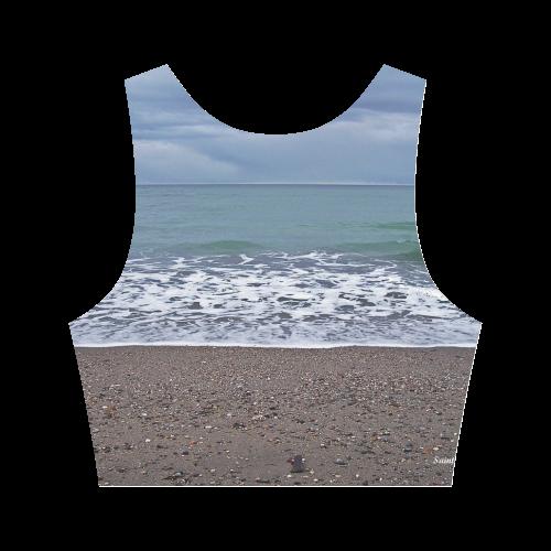 Foam on the Beach Women's Crop Top (Model T42)