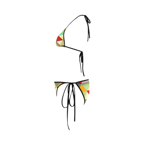Colorful Geometrics Custom Bikini Swimsuit