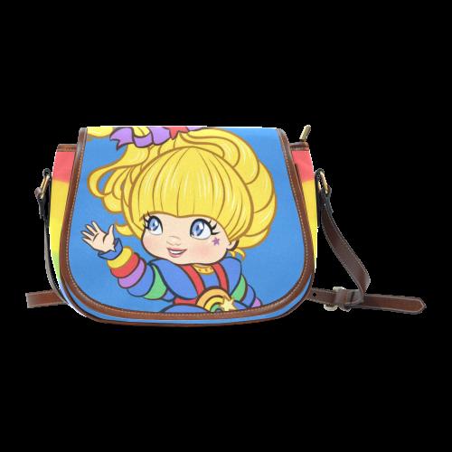 Rainbows Make Everything Better Saddle Bag/Small (Model 1649) Full Customization