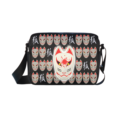 Japanese Fox Mask Classic Cross-body Nylon Bags (Model 1632)