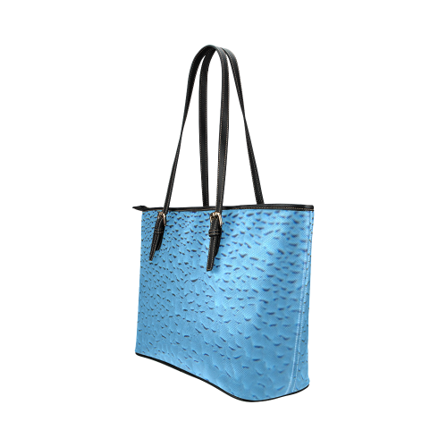 Blue Condensation Leather Tote Bag/Large (Model 1651)