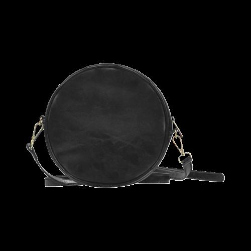 Japanese Fox Mask Round Sling Bag (Model 1647)