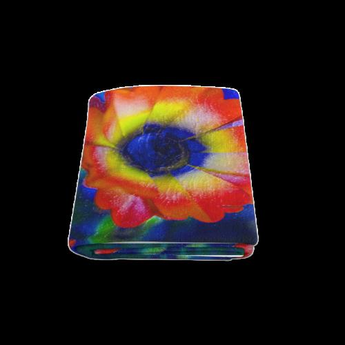"""Colorful Tye Dye Flowers Blanket 58""""x80"""""""