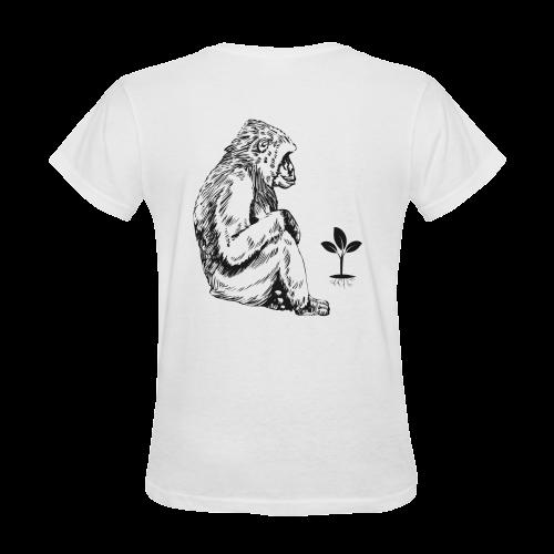 Vegan for our world Sunny Women's T-shirt (Model T05)