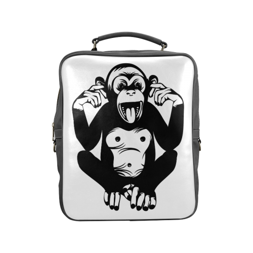 Monkey-Baby Square Backpack (Model 1618)