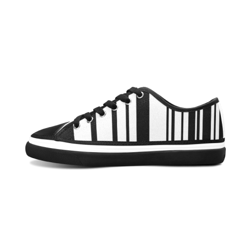 barcode Women's Canvas Zipper Shoes (Model 001)