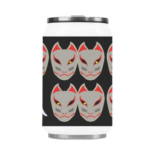 Japanese Fox Mask Stainless Steel Vacuum Mug (10.3OZ)