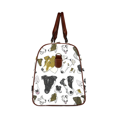 Smooth Fox Terrier Show Bag white small Waterproof Travel Bag/Small (Model 1639)