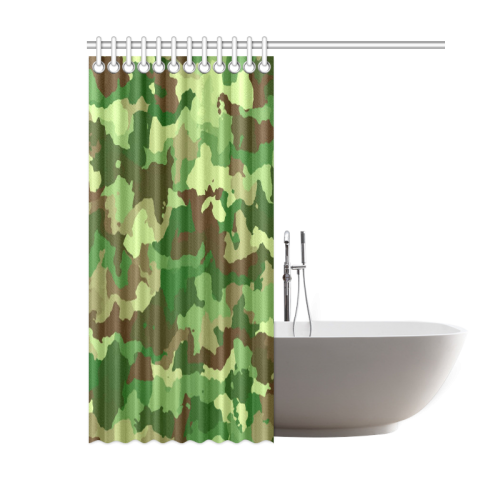 "camouflage green Shower Curtain 60""x72"""