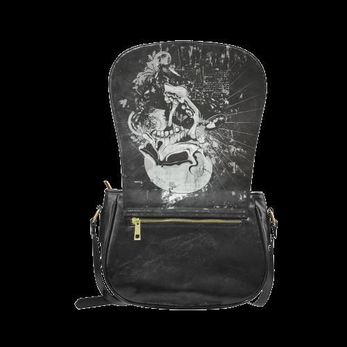Dark Gothic Skull Classic Saddle Bag/Large (Model 1648)