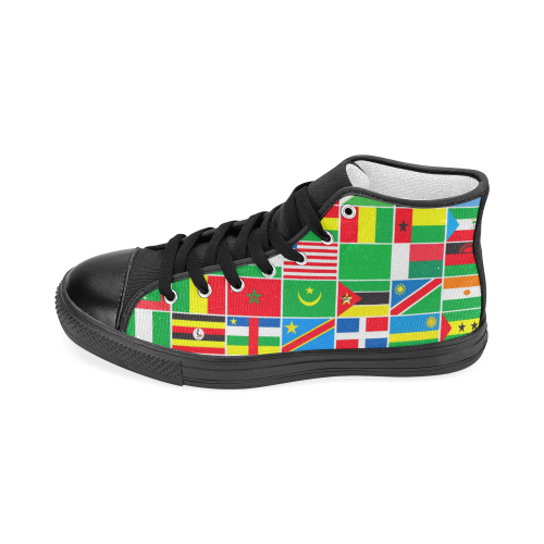 AFRICA Men's Classic High Top Canvas Shoes (Model 017)