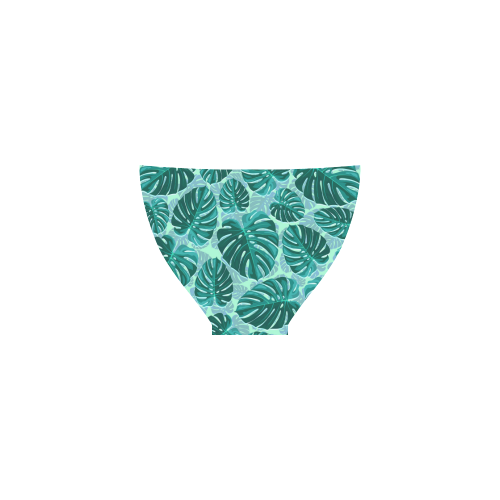 Tropical Leaf Monstera Plant Pattern Custom Bikini Swimsuit