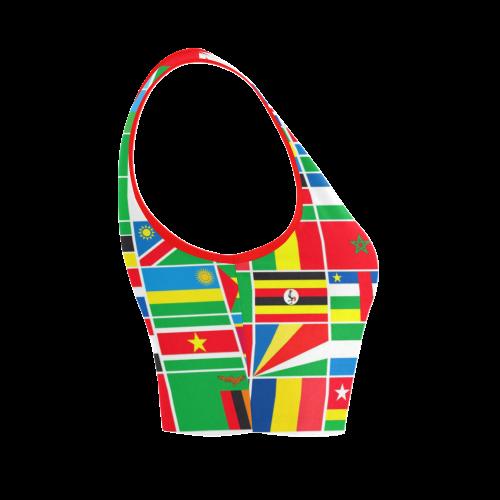 AFRICA Women's Crop Top (Model T42)