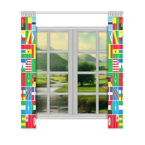 "AFRICA Window Curtain 52""x120""(Two Piece)"