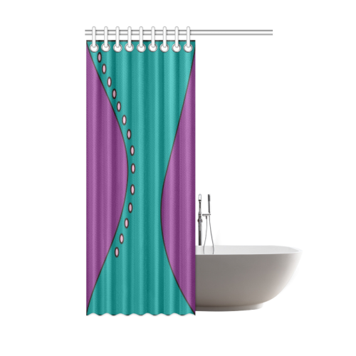 Thyra Flow Teal Purple Pink Shower Curtain 48 X72 ID D317116