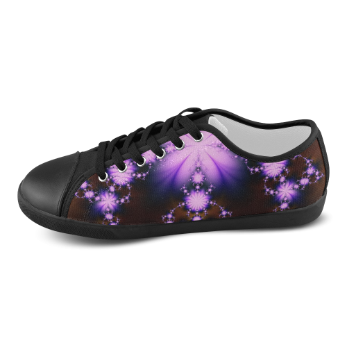 Black and Lavender Fractal Floral