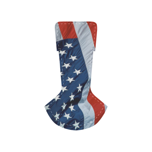 Waving American Flag Men's Chukka Canvas Shoes (Model 003)