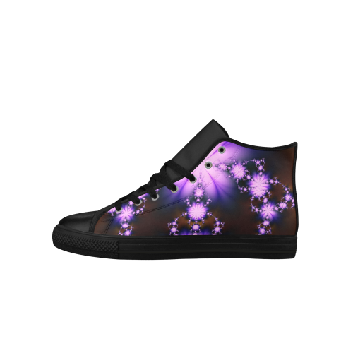 Black and lavender high tops for women