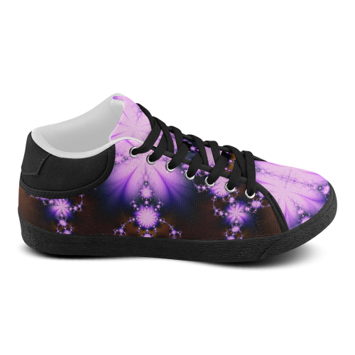 Floral Fractal Black and Lavender shos