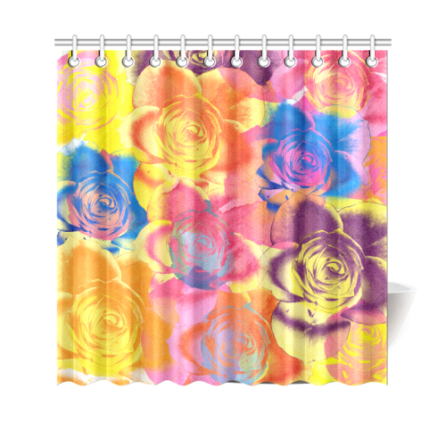 "Roses Shower Curtain 69""x70"""