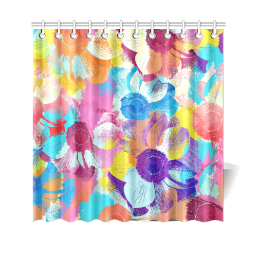 """Anemones Flower Shower Curtain 69""""x70"""""""