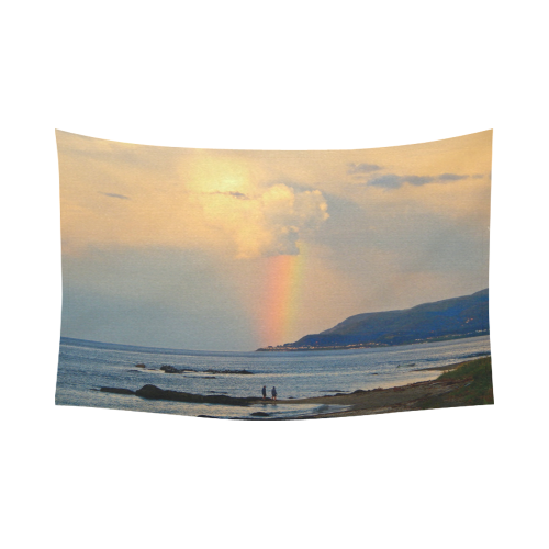 "Rainbow Walk Cotton Linen Wall Tapestry 90""x 60"""