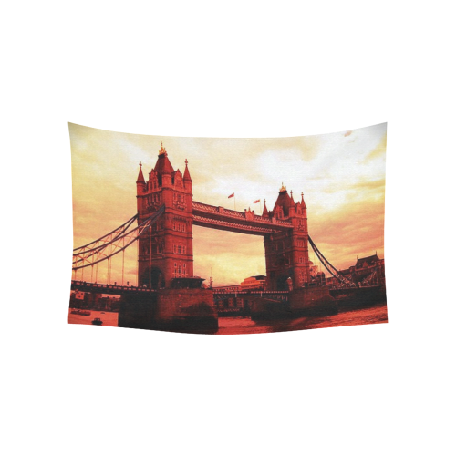 "Travel-London Tower Bridge Cotton Linen Wall Tapestry 60""x 40"""