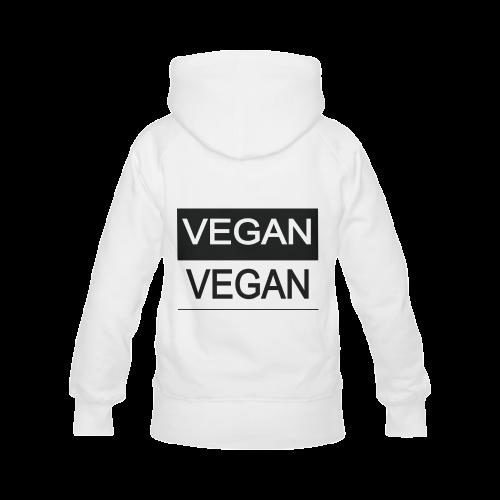 Vegan Black and White Men's Classic Hoodies (Model H10)