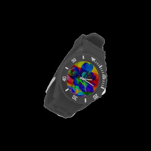 Psychedelic Rose Sport Rubber Strap Watch(Model 301)