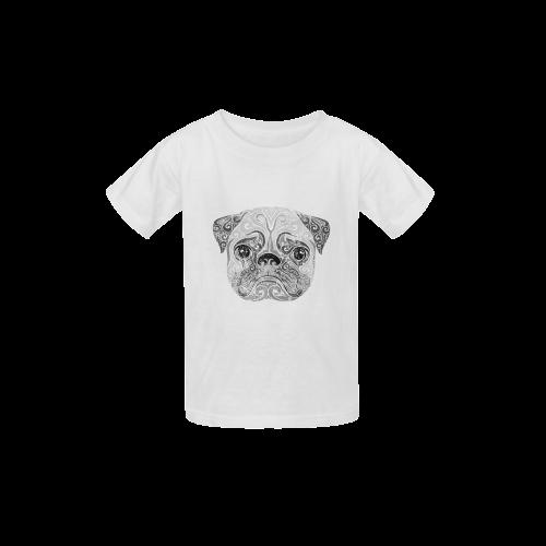 Swirly Pug Kid's  Classic T-shirt (Model T22)