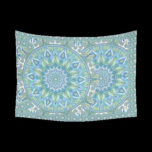 "boho-mandala 5 Cotton Linen Wall Tapestry 80""x 60"""