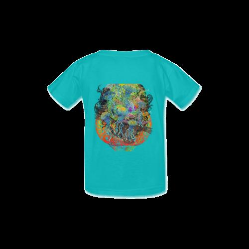Swirly Penguin Family Kid's  Classic T-shirt (Model T22)