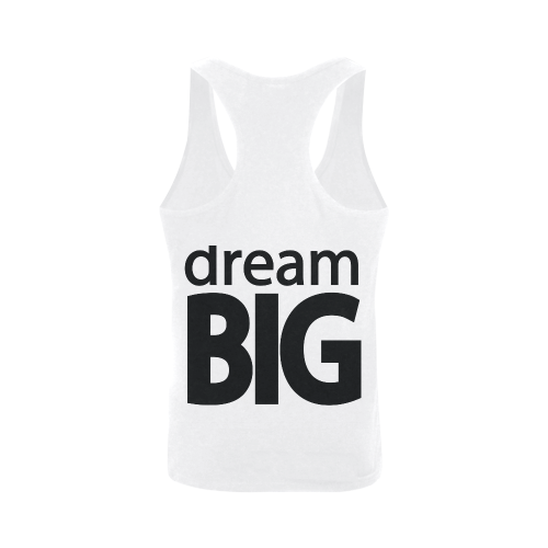 Dream Big Plus-size Men's I-shaped Tank Top (Model T32)