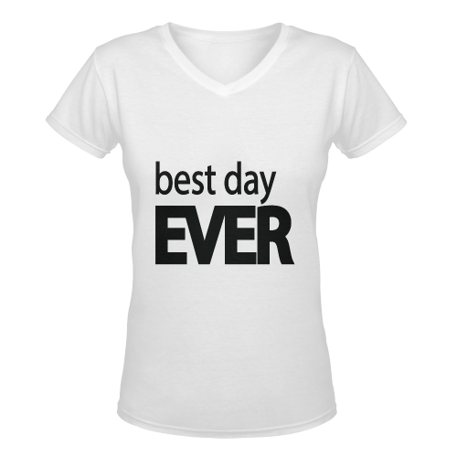 Best Day Ever Women's Deep V-neck T-shirt (Model T19)