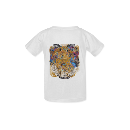 Swirly Bunny Kid's  Classic T-shirt (Model T22)
