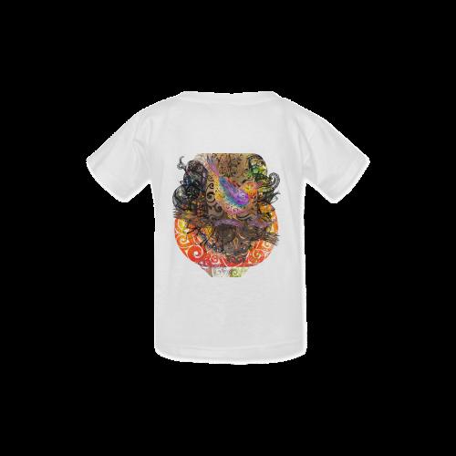 Swirly Bird Kid's  Classic T-shirt (Model T22)