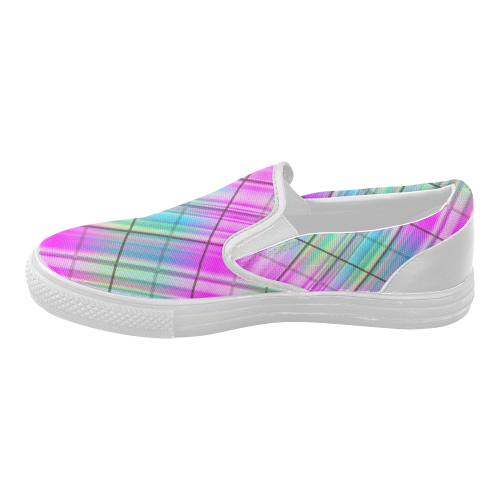 modern plaid 9b s slip on canvas shoes model 019