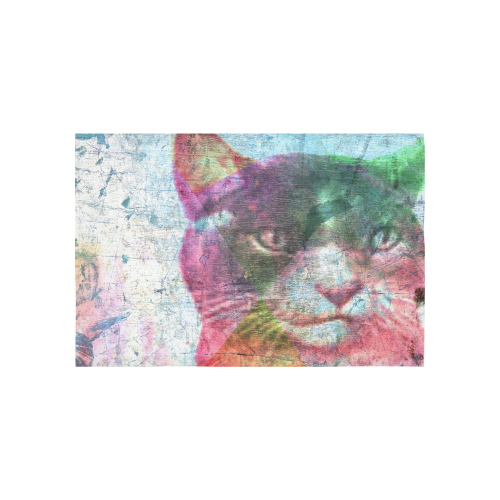 "Cat Cotton Linen Wall Tapestry 60""x 40"""