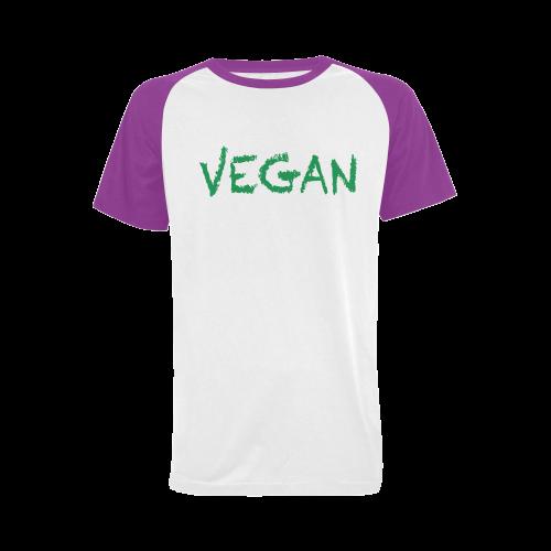 vegan Men's Raglan T-shirt (USA Size) (Model T11)