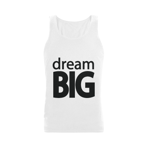 Dream Big Men's Shoulder-Free Tank Top (Model T33)