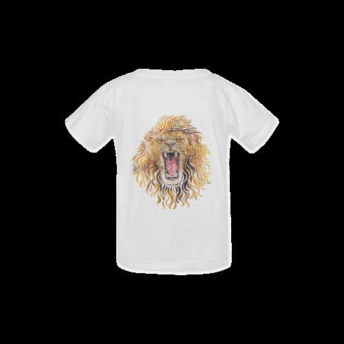 Swirly Lion Kid's  Classic T-shirt (Model T22)