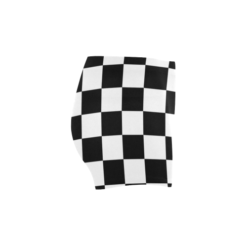 Checkerboard Black and White Briseis Skinny Shorts (Model L04)