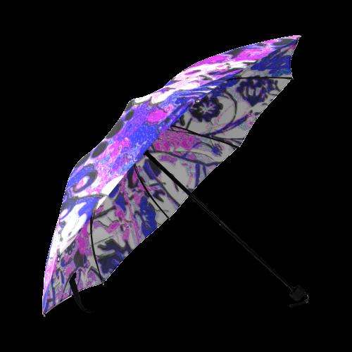 wacky retro floral Foldable Umbrella (Model U01)