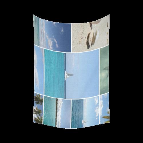 "Isla Saona Caribbean Photo Collage Cotton Linen Wall Tapestry 90""x 60"""