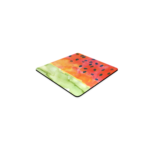 Abstract Watermelon Square Coaster