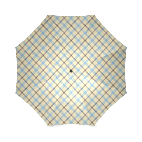 Plain Plaid for Dad (Tartan) Foldable Umbrella (Model U01)