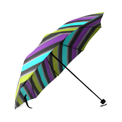 retro stripe 1 Foldable Umbrella