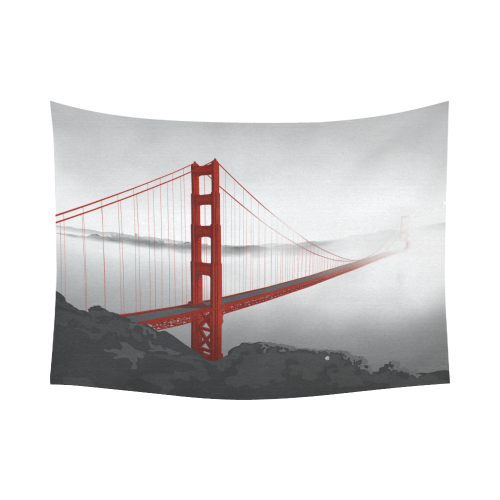 "San Francisco Cotton Linen Wall Tapestry 80""x 60"""